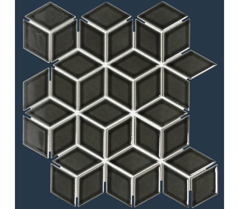mozaïek PARIS 3D Cubic Glossy Black