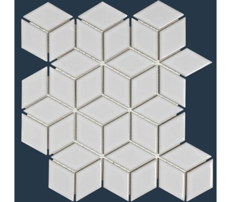 mozaïek PARIS 3D Cubic Glossy White