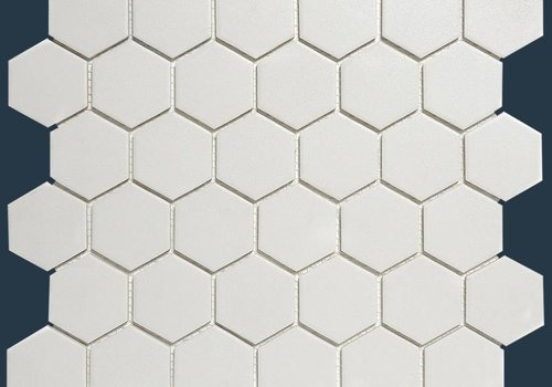 The Mosaic Factory mozaïek LONDON Hexagon Super White 51x59