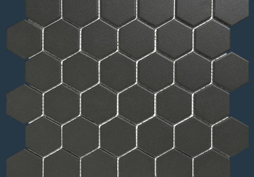 The Mosaic Factory mozaïek LONDON Hexagon Black 51x59