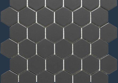 The Mosaic Factory mozaïek BARCELONA Hexagon Glossy Dark Grey 51x59