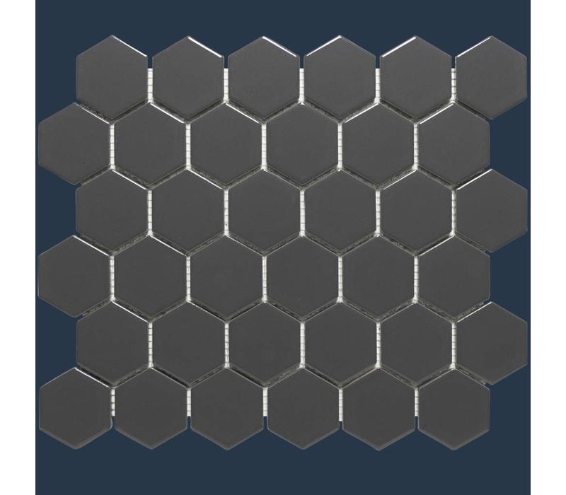 mozaïek BARCELONA Hexagon Glossy Dark Grey 51x59