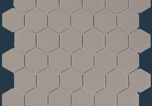 The Mosaic Factory mozaïek BARCELONA Hexagon Glossy Taupe 51x59