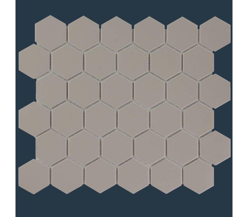 mozaïek BARCELONA Hexagon Glossy Taupe 51x59