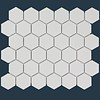 The Mosaic Factory mozaïek BARCELONA Hexagon Glossy Extra White 51x59