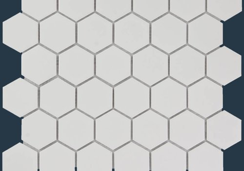 The Mosaic Factory mozaïek BARCELONA Hexagon Glossy Extra White 51x59