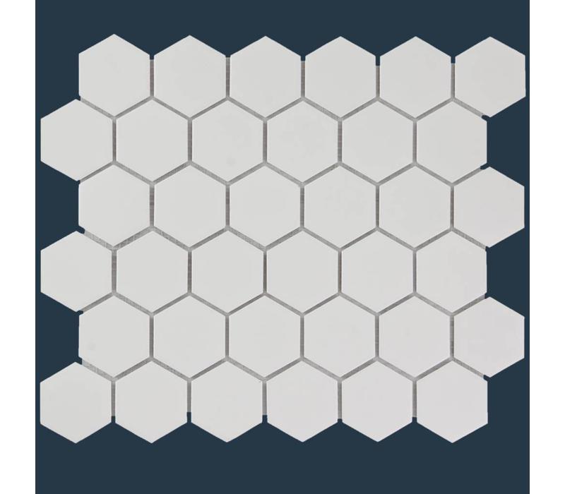 mozaïek BARCELONA Hexagon Glossy Extra White 51x59
