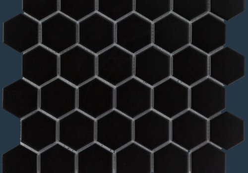 The Mosaic Factory mozaïek BARCELONA Hexagon Glossy Black 51x59
