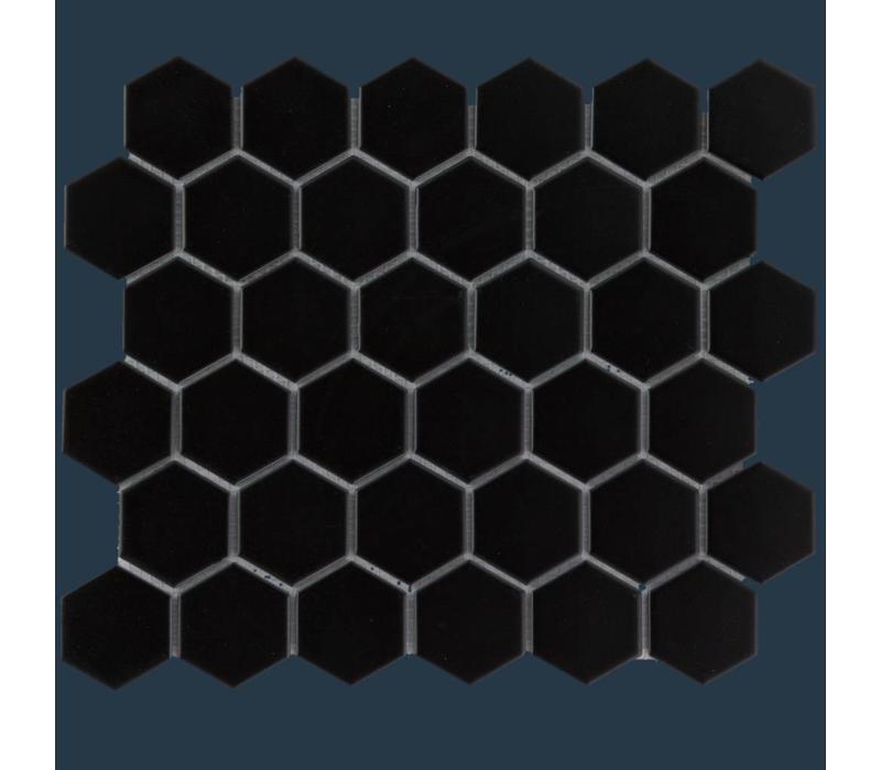mozaïek BARCELONA Hexagon Glossy Black 51x59