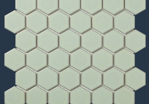 The Mosaic Factory mozaïek BARCELONA Hexagon Glossy Light Green Edge 51x59