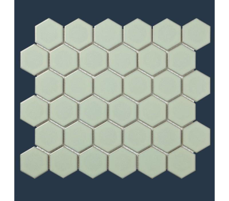 mozaïek BARCELONA Hexagon Glossy Light Green Edge 51x59