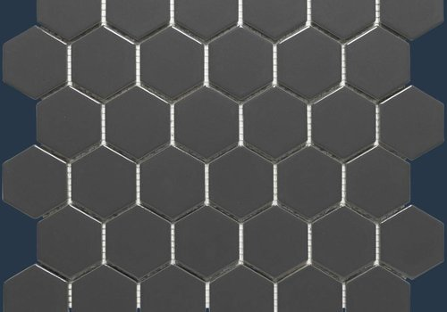 The Mosaic Factory mozaïek BARCELONA Hexagon Matt Dark Grey 51x59
