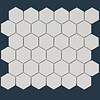 The Mosaic Factory mozaïek BARCELONA Hexagon Matt White 51x59
