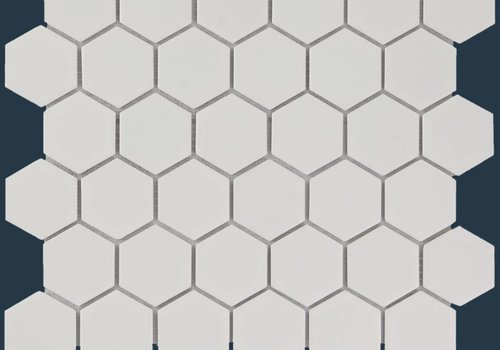 The Mosaic Factory mozaïek BARCELONA Hexagon Matt White 51x59