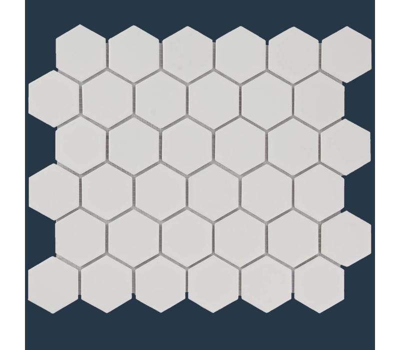 mozaïek BARCELONA Hexagon Matt White 51x59