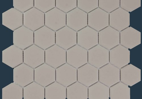 The Mosaic Factory mozaïek BARCELONA Hexagon Matt Taupe 51x59