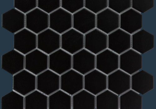 The Mosaic Factory mozaïek BARCELONA Hexagon Matt Black 51x59