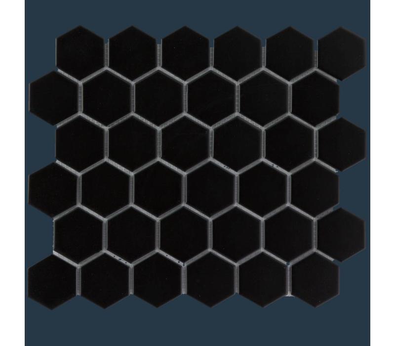mozaïek BARCELONA Hexagon Matt Black 51x59