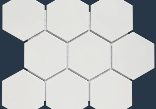 The Mosaic Factory mozaïek BARCELONA Hexagon Matt White 95x110