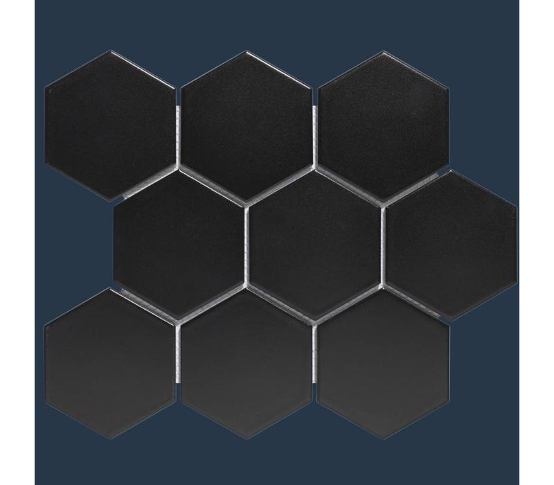 mozaïek BARCELONA Hexagon Matt Black 95x110