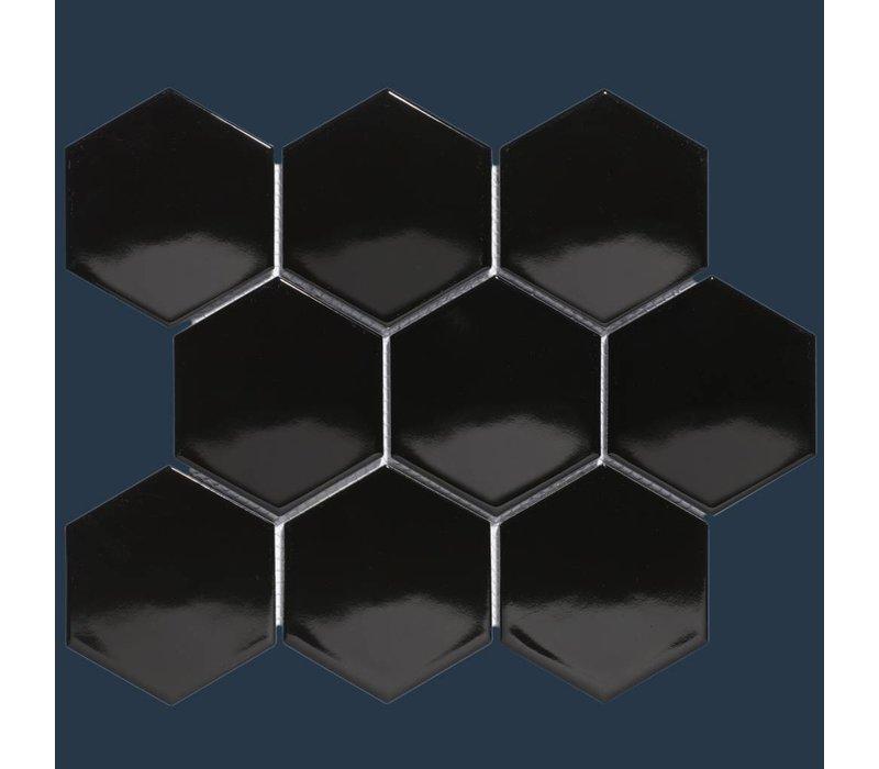 mozaïek BARCELONA Hexagon Glossy Black 95x110