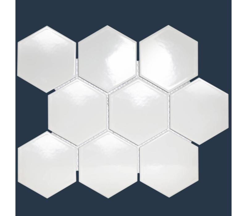 mozaïek BARCELONA Hexagon Glossy Extra White 95x110