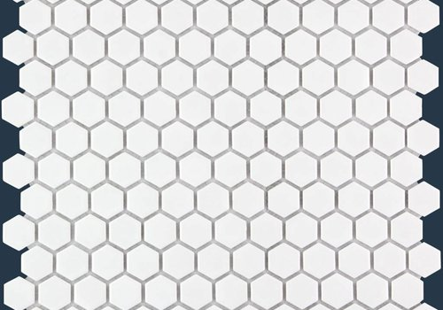 The Mosaic Factory mozaïek BARCELONA Hexagon Glossy Extra White 23x26