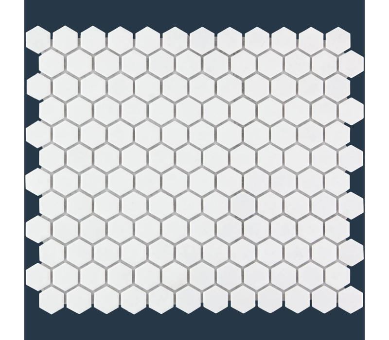 mozaïek BARCELONA Hexagon Matt White 23x26