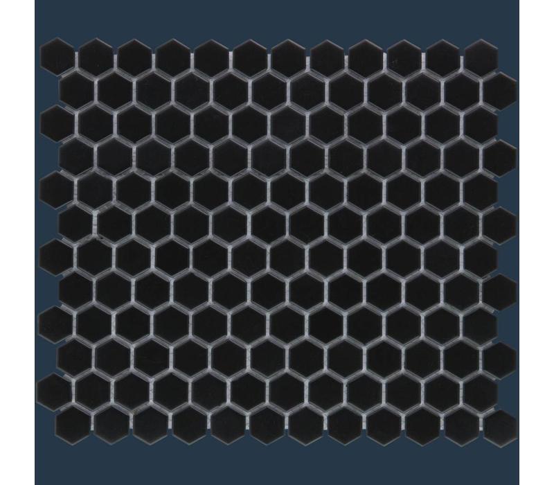 mozaïek BARCELONA Hexagon Matt Black 23x26