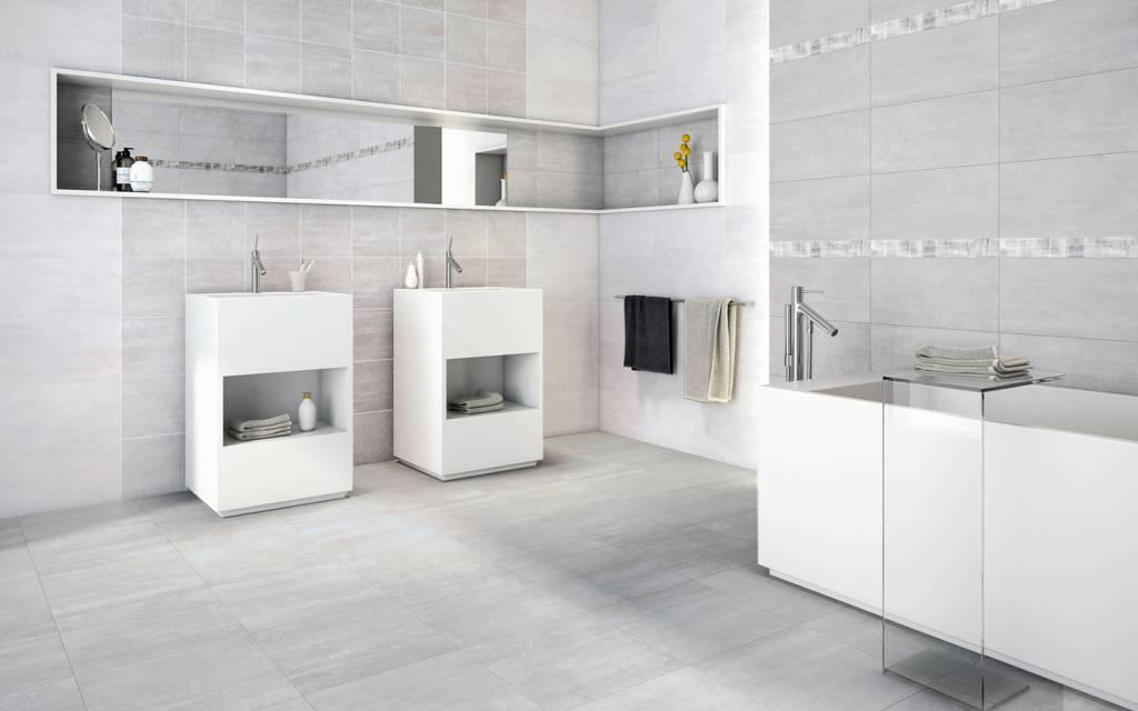 Betonlook Tegels Badkamer : Betonlook badkamer: van verf stuc en beton ciré tot tegels op de
