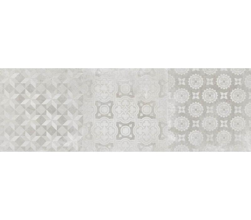 wandtegel Decor DOWNTOWN White 40x120 cm rett.