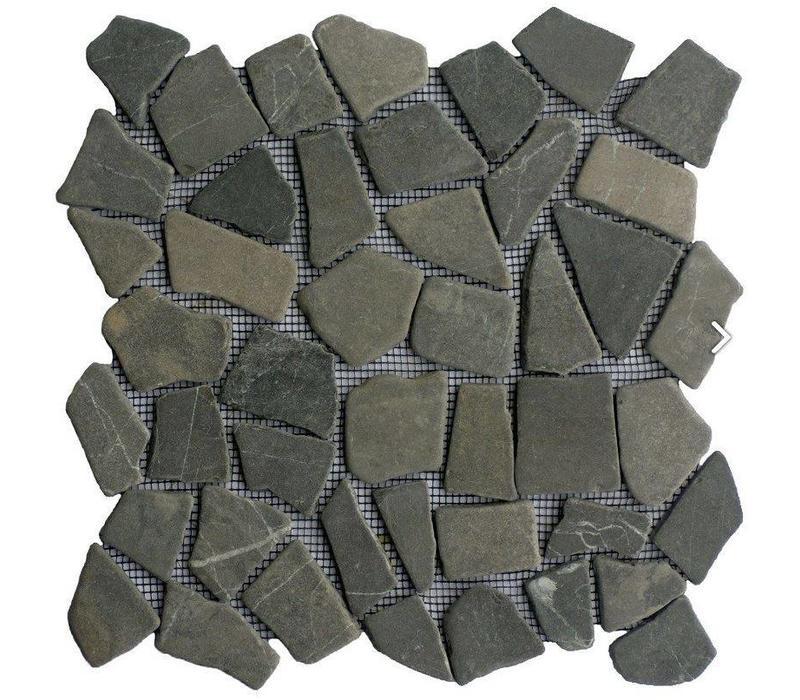Grey marmer scherven getrommeld mixed maten