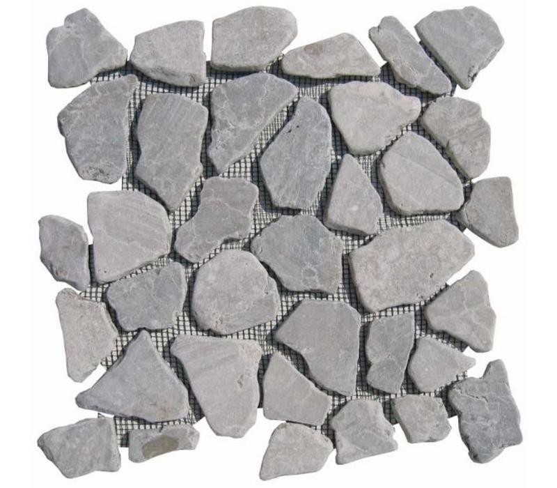 Light grey marmer scherven getrommeld mixed maten