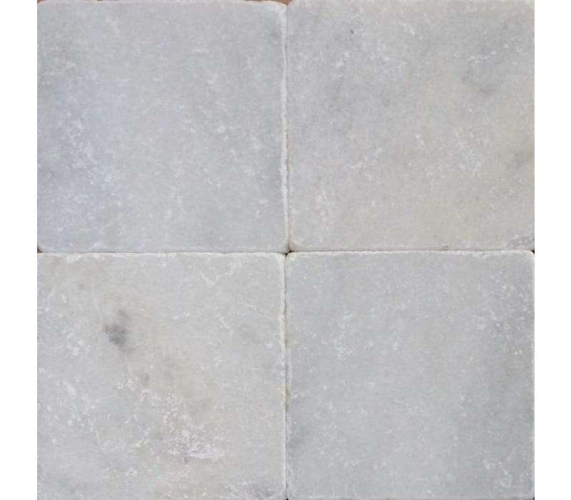 Wit marmer tegels anticato 20x20x1