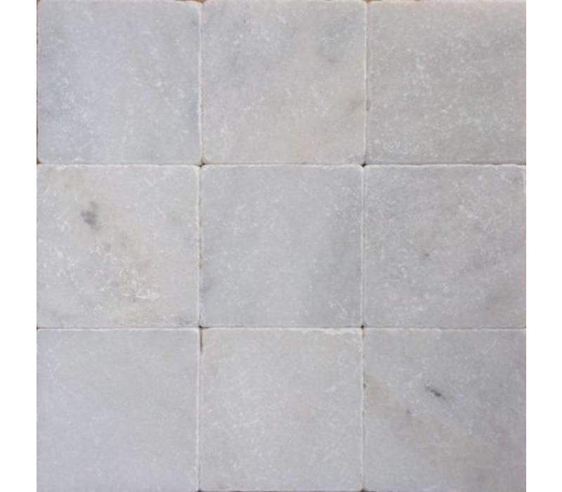 Wit marmer tegels anticato 10x10x1