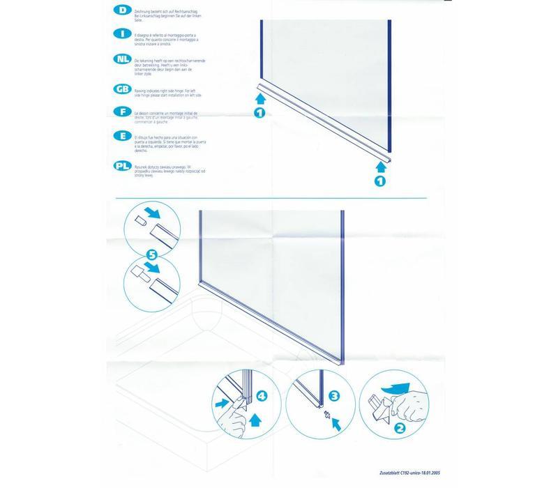 Transparante lekstrip 6mm, 1 meter