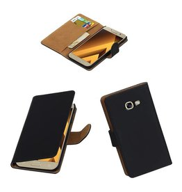 Merkloos Zwart bookcase voor Samsung Galaxy A5 2017 hoesje