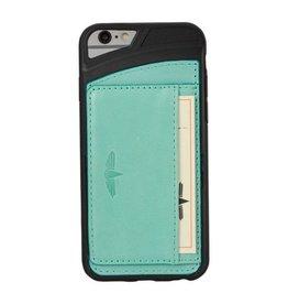 Galata Galata echt leer back cover iPhone 6(s) slim-stand Turquoise