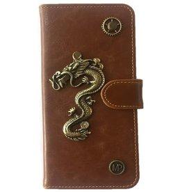 MP Case Draak design bedel pu leder Samsung Galaxy S8 Plus book case
