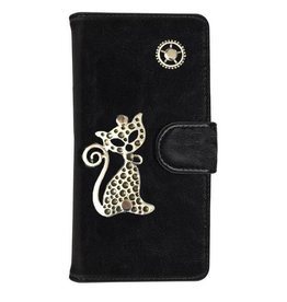 MP Case Mystiek hoesje Samsung Galaxy S5 Neo Kat Zwart
