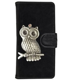 MP Case Huawei P10 Lite bookcase hoesje uil Zilver