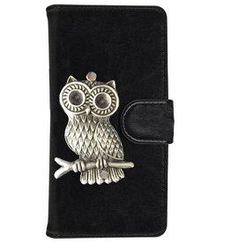 MP Case Huawei P9 Lite bookcase hoesje uil Zilver