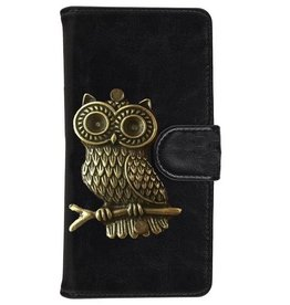 MP Case Huawei P9 Lite bookcase hoesje uil Brons