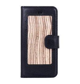 Galata iPhone 5 / 5s / SE echt leer hout bewerkt hoes