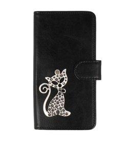 MP Case Sony Xperia XZ1 Compact hoesje poesje Zilver