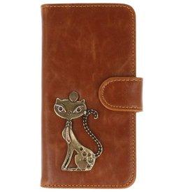 MP Case LG Q6 bruin hoesje kat brons