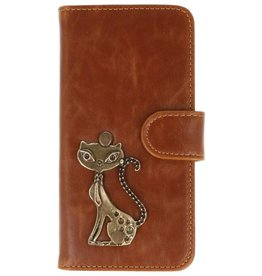 MP Case Motorola Moto G5 Plus bruin hoesje kat brons