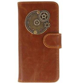 MP Case Motorola Moto G5 Plus bruin hoesje klok brons