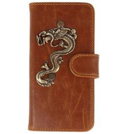 MP Case Motorola Moto G5 Plus bruin hoesje draak brons