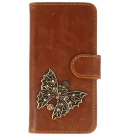 MP Case Samsung Galaxy J7 Pro (2017) bruin hoesje vlinder brons